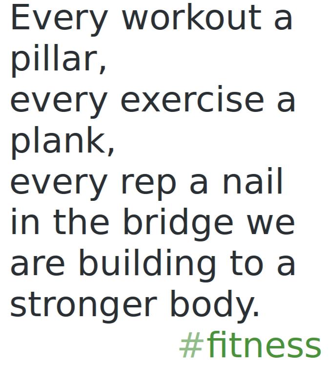 The Bridge to Fitness